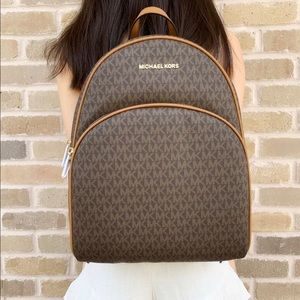 Michael Kors Abbey Backpack Brown MK Signature